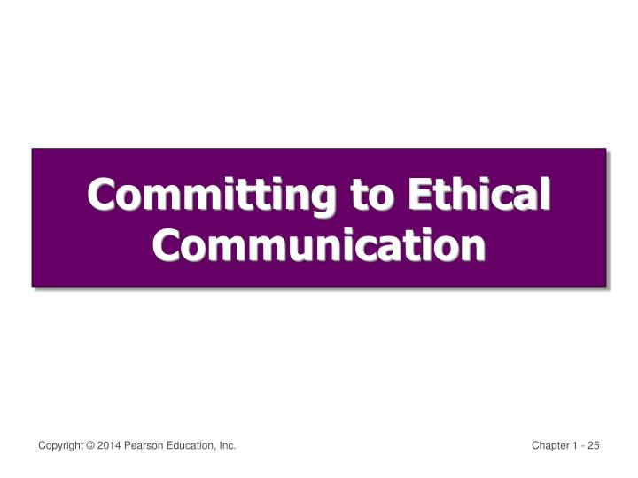 Committing to Ethical Communication