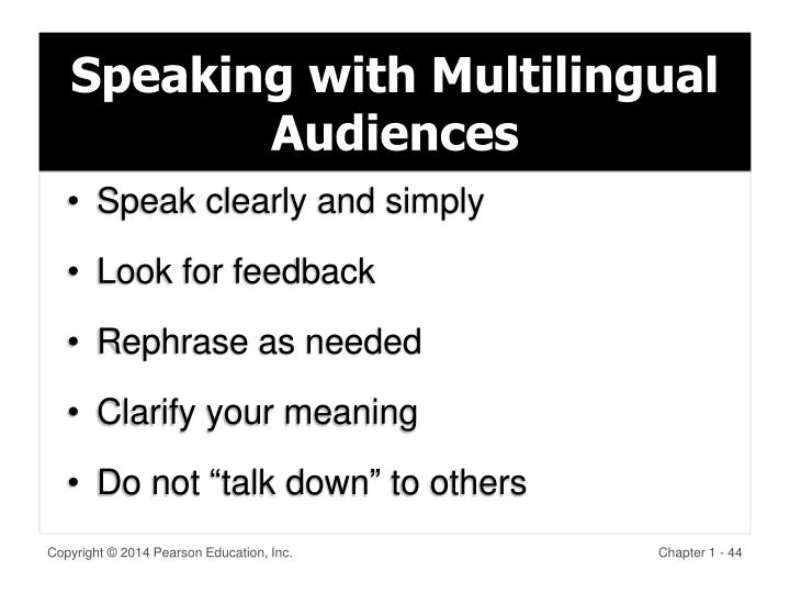 Speaking with Multilingual Audiences