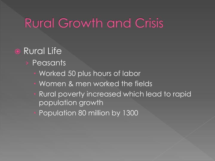rural growth and crisis n.