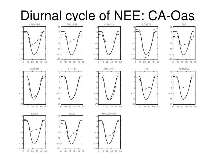Diurnal cycle of NEE: CA-Oas