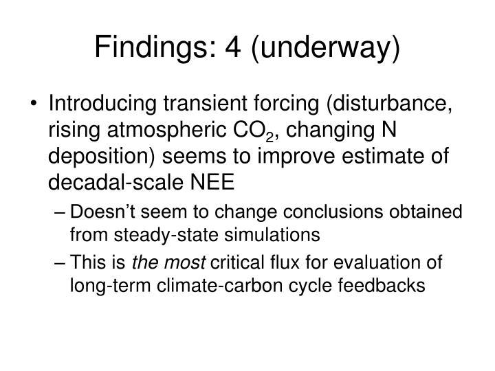 Findings: 4 (underway)