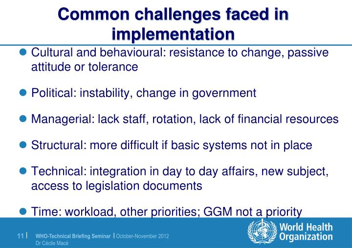 Common challenges faced in implementation
