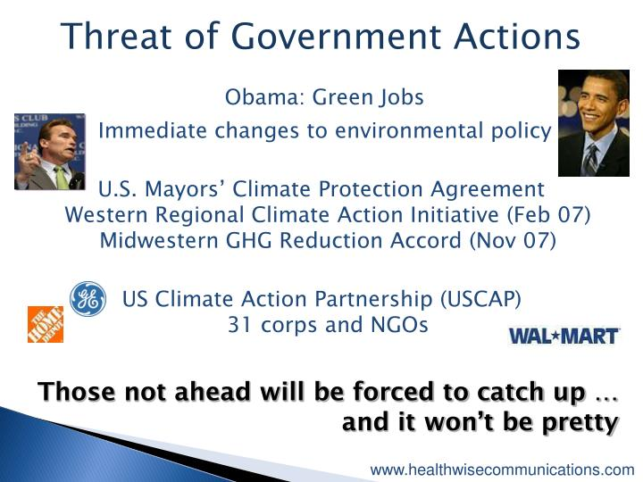 Threat of Government Actions