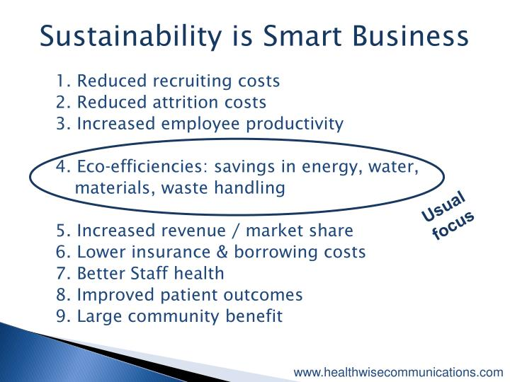 Sustainability is Smart Business