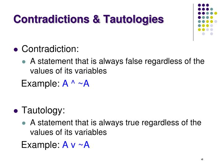 Contradictions & Tautologies