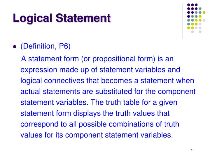 Logical Statement