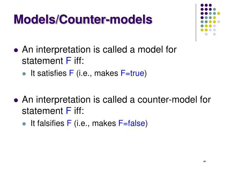 Models/Counter-models