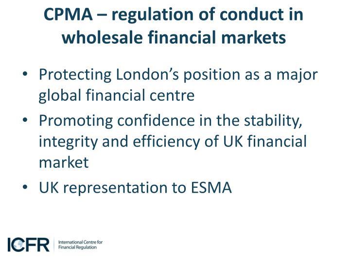 CPMA – regulation
