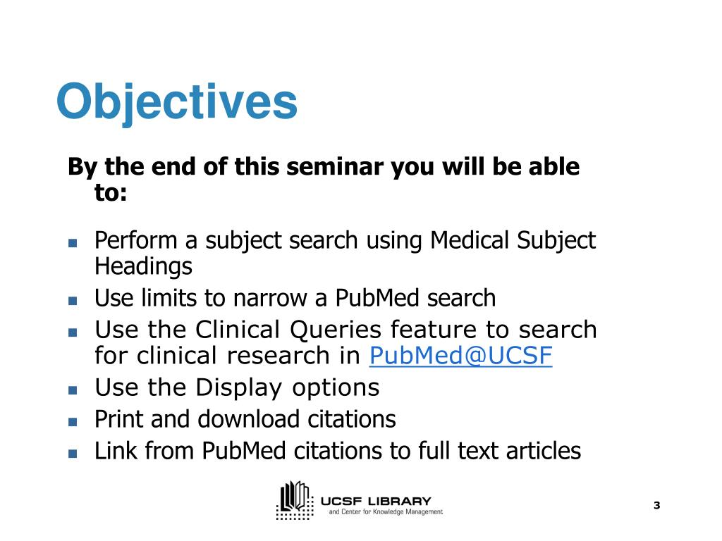 PPT - Advanced PubMed Searching for First-year PT Master