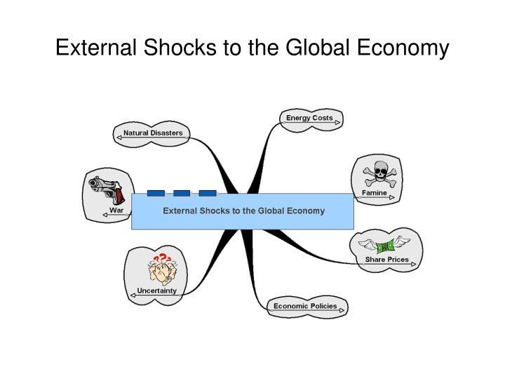 External shocks to the global economy1