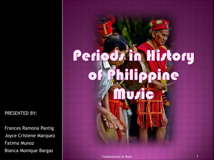 periods in history of philippine music n.