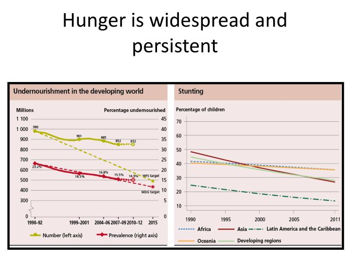 Hunger is widespread and persistent