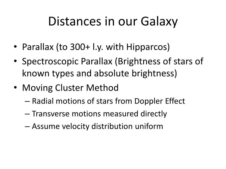 Distances in our Galaxy