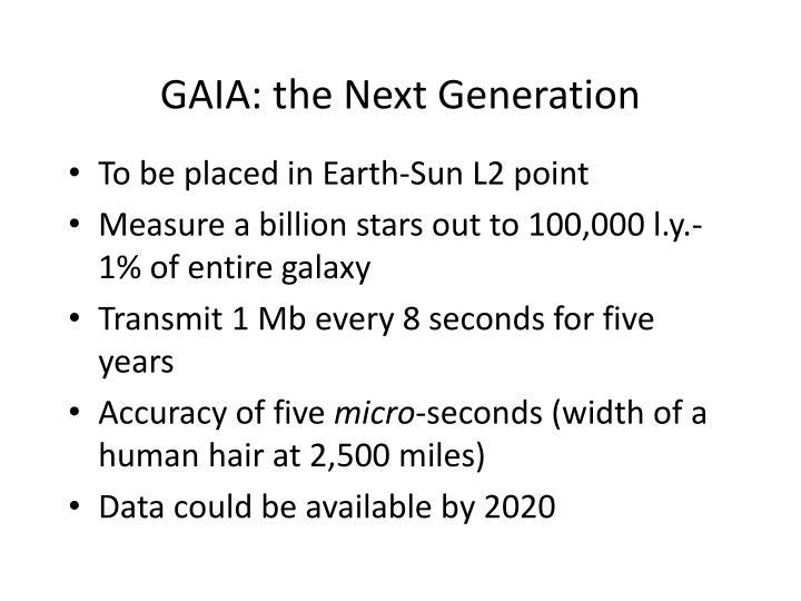 GAIA: the Next Generation