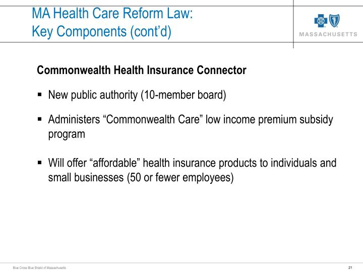 MA Health Care Reform Law: