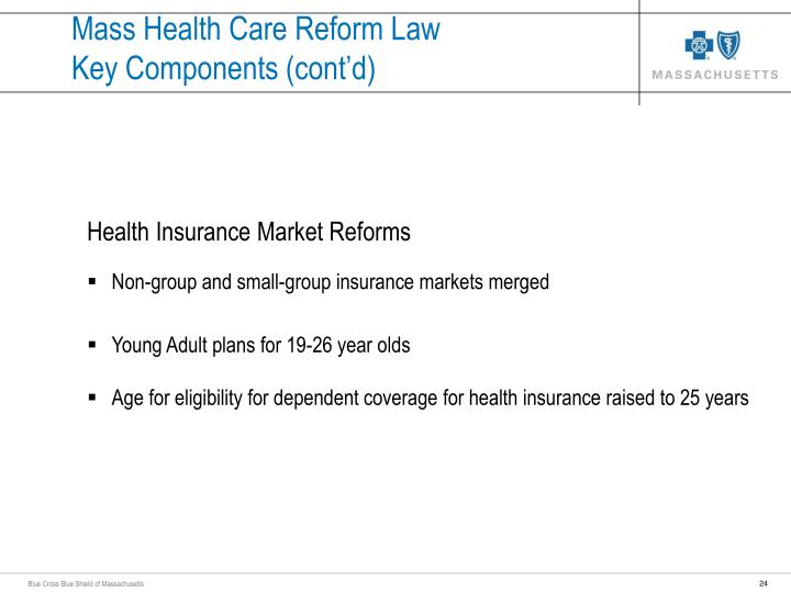 Mass Health Care Reform Law