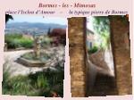 bormes les mimosas place l isclou d amour la typique pierre de bormes