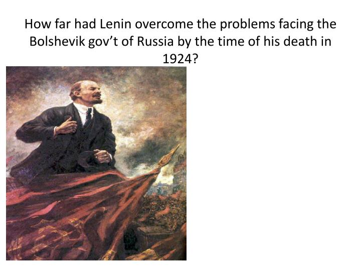 lenins death in 1924 essay Russian revolutionary lenin died from the sex disease syphilis not a stroke, claims historian lenin's brain after his death in 1924 our papers top of page.