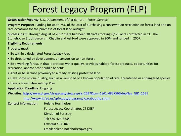 Forest Legacy Program (FLP)