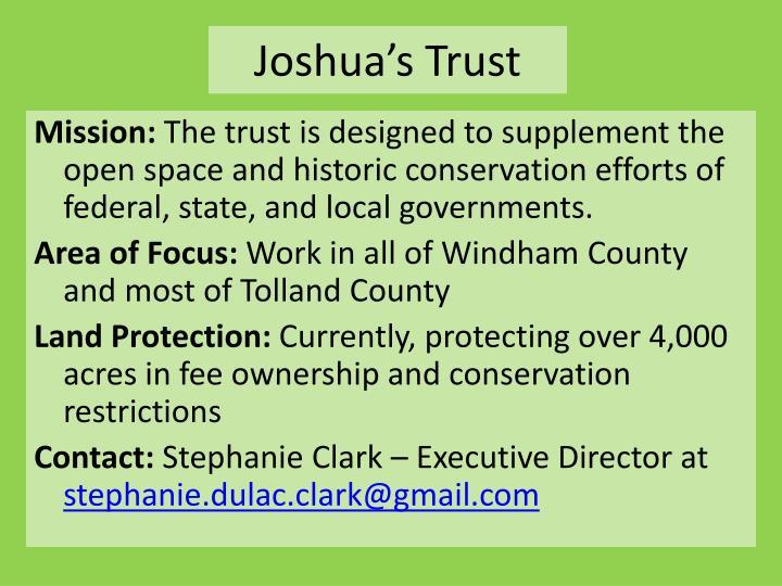 Joshua's Trust