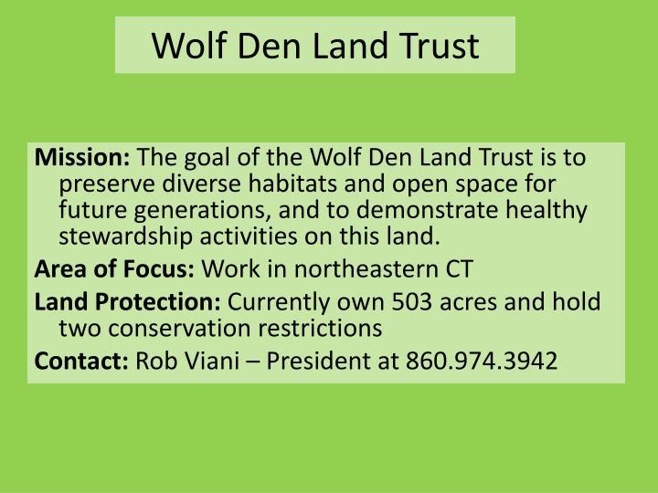 Wolf Den Land Trust