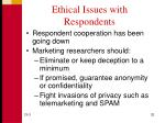 ethical issues with respondents