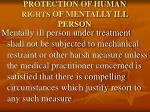 protection of human rights of mentally ill person