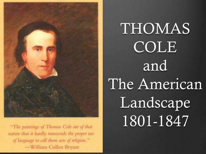 thomas cole and the american landscape 1801 1847 n.