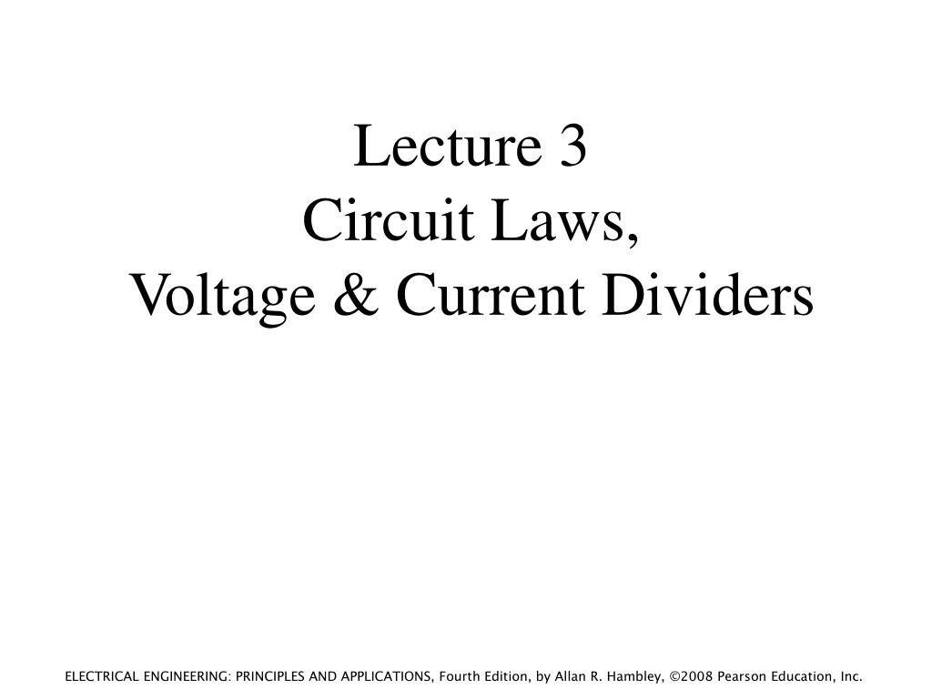 Voltage Divider In Series And Parallel Circuit Electrical Laws Ppt Lecture Current Dividers Powerpoint Presentation 1024x768
