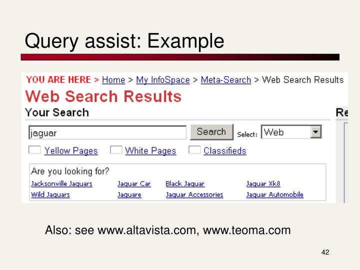 Query assist: Example