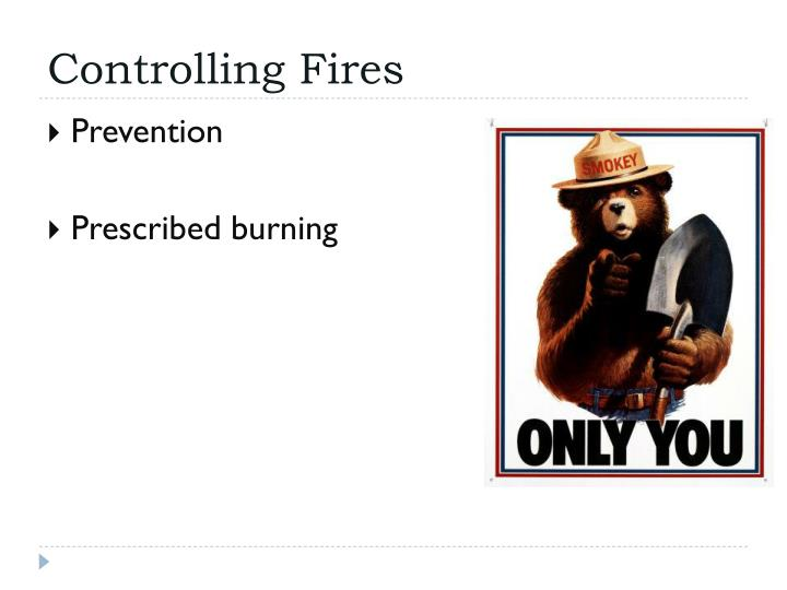 Controlling Fires