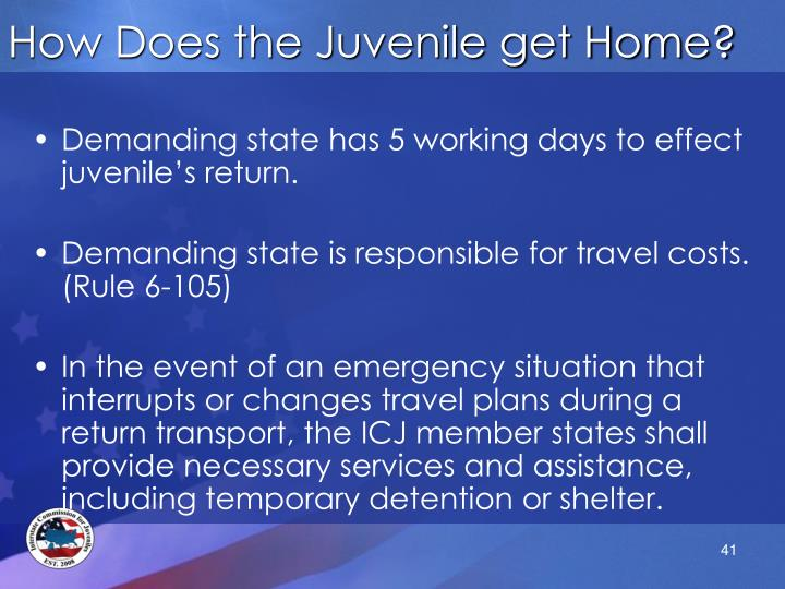 How Does the Juvenile get Home?