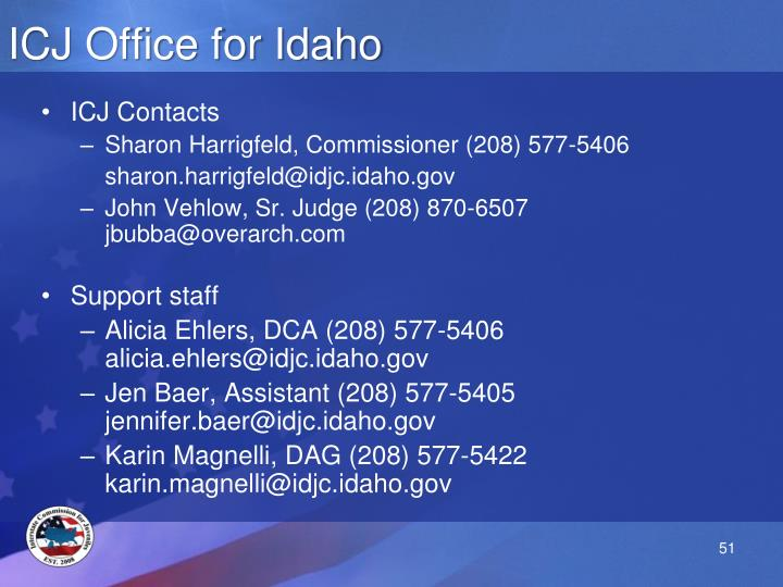 ICJ Office for Idaho