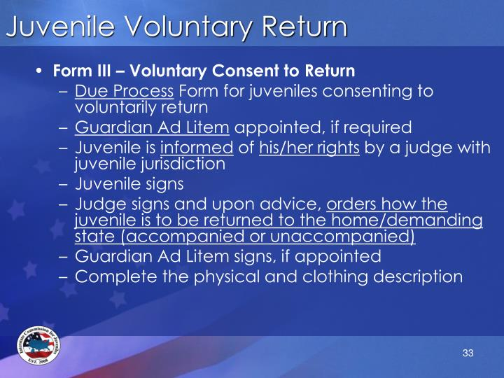 Juvenile Voluntary Return