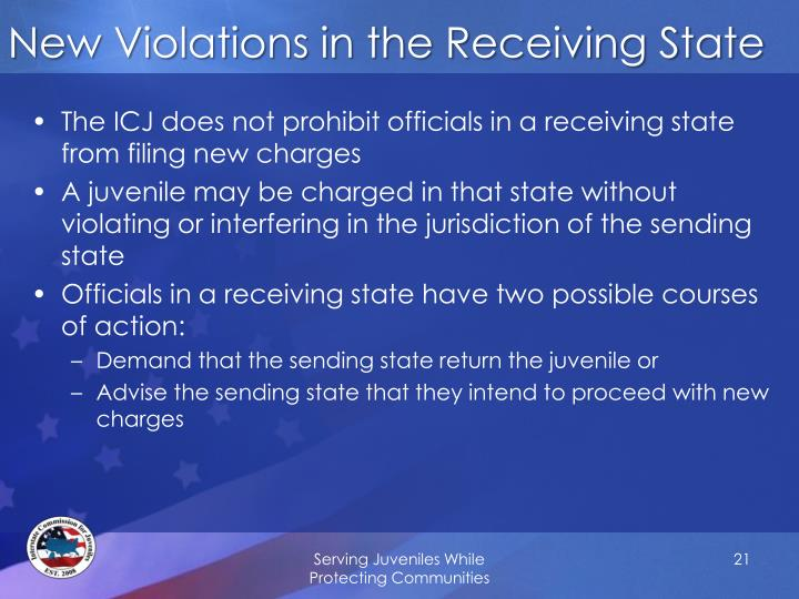 New Violations in the Receiving State