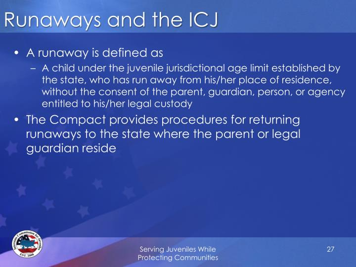 Runaways and the ICJ