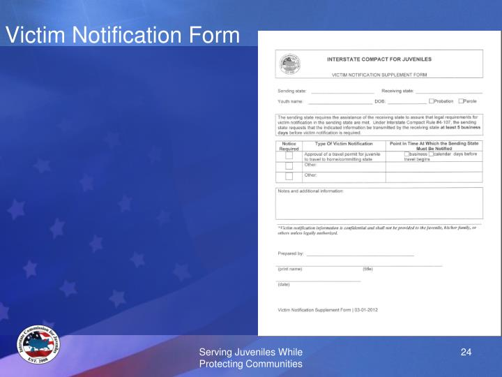 Victim Notification Form