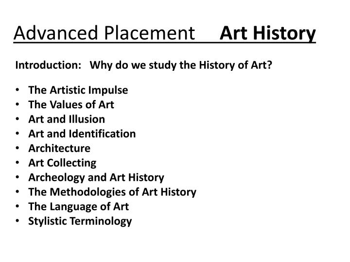 advanced placement art history n.