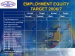 employment equity target 2006 7