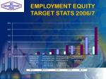 employment equity target stats 2006 7