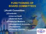 functioning of board committees1