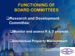 functioning of board committees3