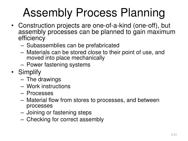 Assembly Process Planning