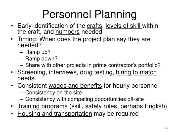 Personnel Planning