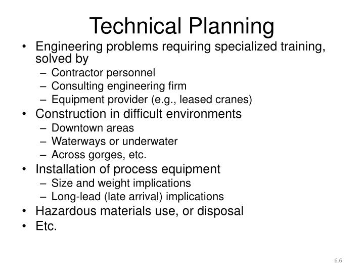 Technical Planning