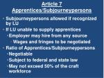 article 7 apprentices subjourneypersons