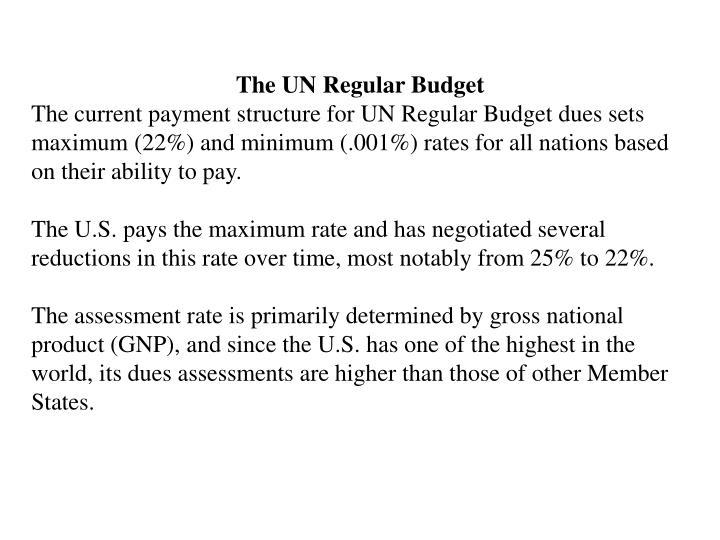 The UN Regular Budget