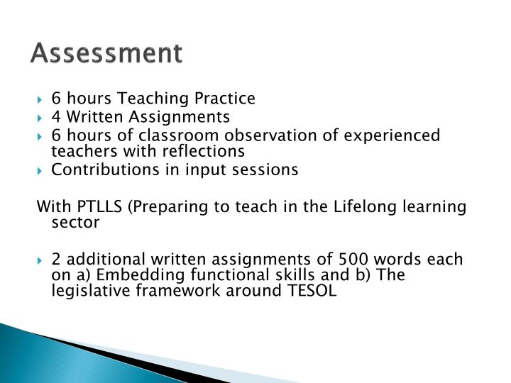 preparing to teach in the lifelong learning sector assignments