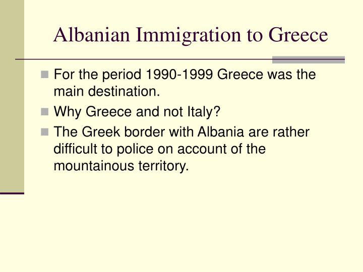 Albanian Immigration to Greece