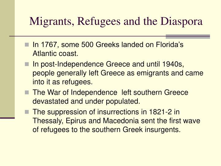 Migrants, Refugees and the Diaspora